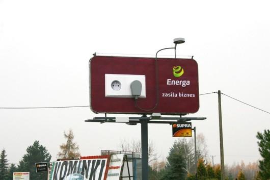 trójwymiarowy billboard energi