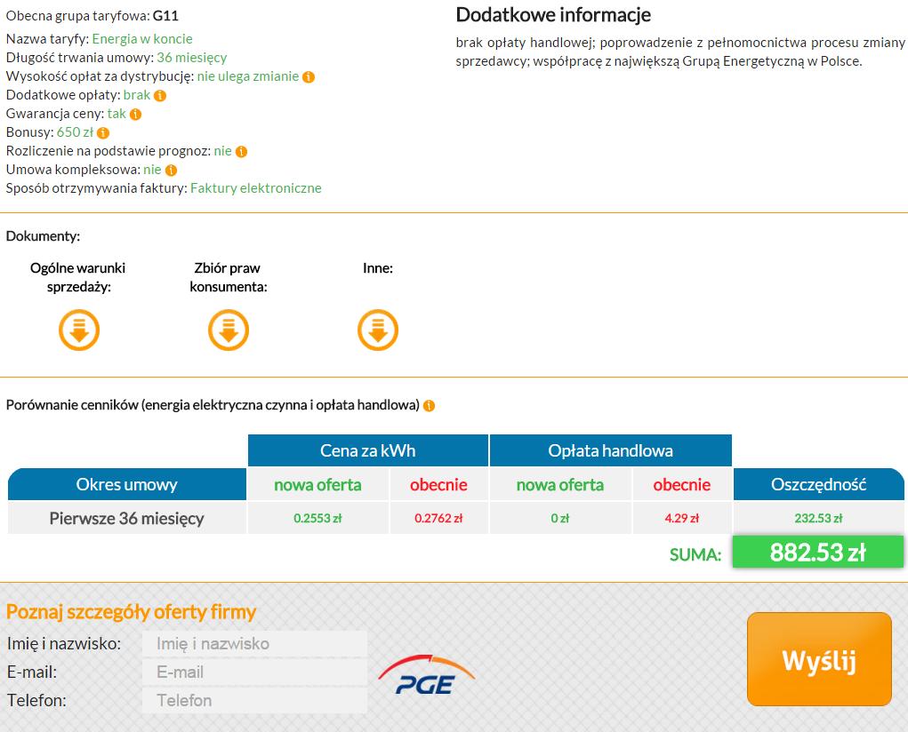 Optimal Energy - szczegóły oferty