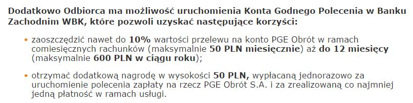 PGE - bonus