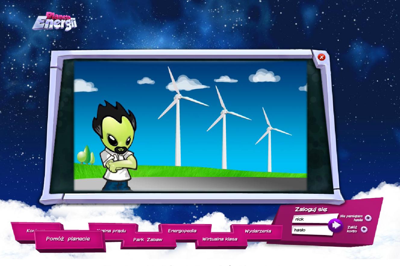 Planeta Energii - elektrownia wietrzna